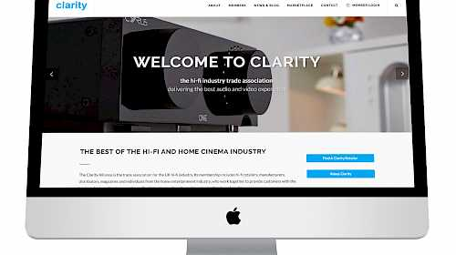 Clarity launches its new website to serve members and hi-fi buyers